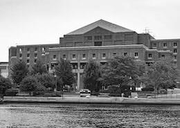 Waterfront view for the main building of The Suffolk County Jail (Nashua Street Jail)